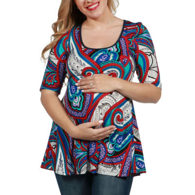 24/7 Comfort Apparel Evelyn Maternity Tunic Top
