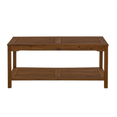 Acacia Wood Patio Coffee Table
