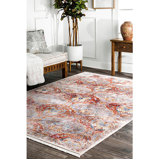Nuloom Vintage Abstract Nagle Fringe Kilim Area Rug