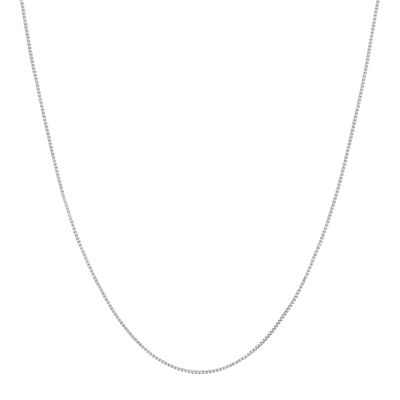 "Made in Italy 14K White Gold 16-20"" .55mm Venetian Box Chain"