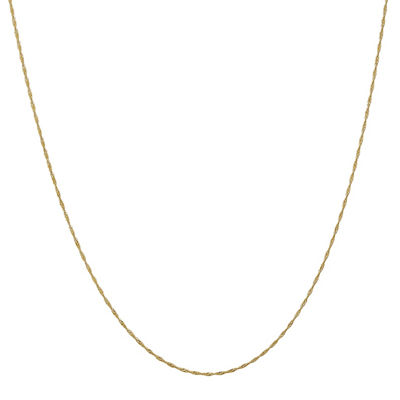 14K Gold 14 Inch Solid Singapore Chain Necklace
