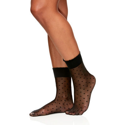 Berkshire Hosiery Sheer Dot Anklet 1 Pair Quarter Socks - Womens