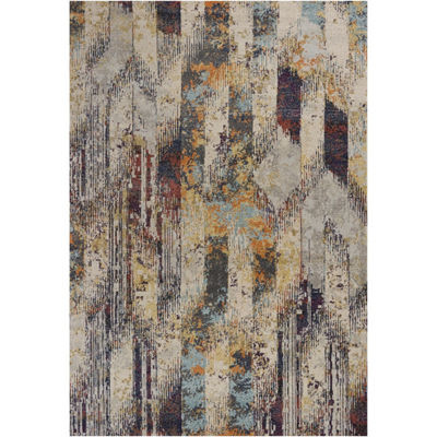 Kas Mediterra Strata Rectangular Indoor Accent Rug