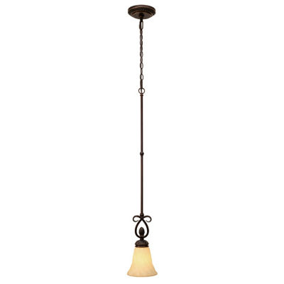 Torbellino Mini Pendant in Cordoban Bronze with Remolino Glass