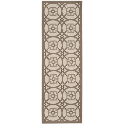 Safavieh Courtyard Collection Hadley Geometric Indoor/Outdoor Runner Rug