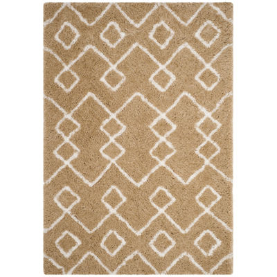 Safavieh Toronto Shag Collection Mabelle Geometric Area Rug