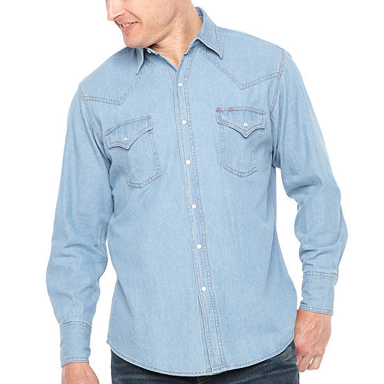 Ely Cattleman Long Sleeve Snap-Front Shirt-Big and Tall