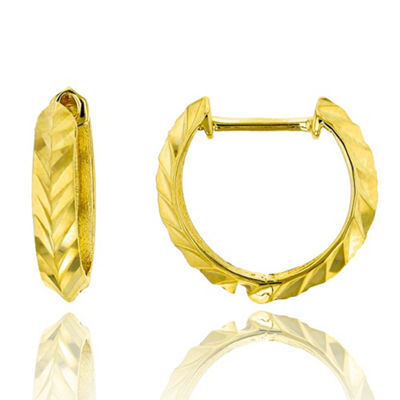 14K Gold 13mm Hoop Earrings