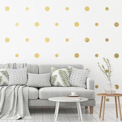 New View Gold Dot Wall Decal