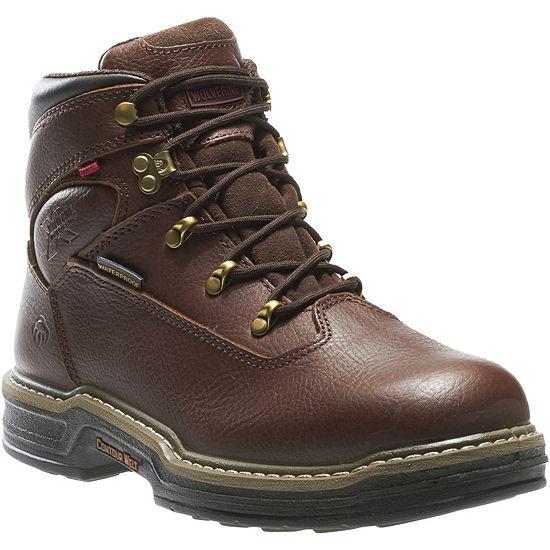 Wolverine Mens Buccaneer Waterproof Slip Resistant Work Boots