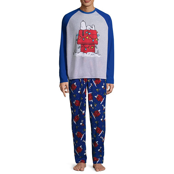 snoopy 2 piece pajama set mens - Snoopy Christmas Pajamas