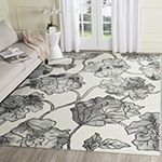 Safavieh Dip Dye Collection Erksine Floral Square Area Rug