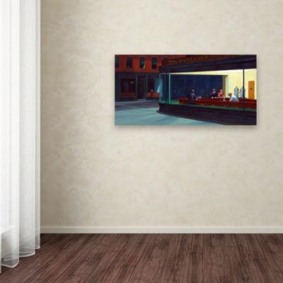 Trademark Fine Art Edward Hopper Nighthawks GicleeCanvas Art