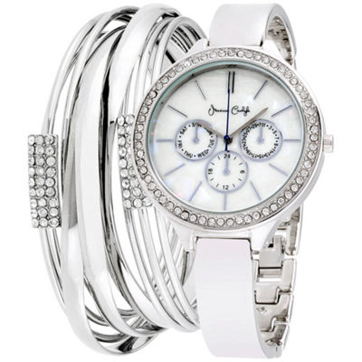 Womens Silver Tone Bracelet Watch-St2023s695-004