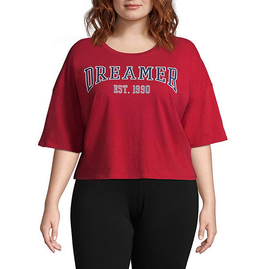 0ca0b6ecb903 Flirtitude Cropped Tee - Juniors Plus - JCPenney