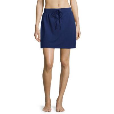 Flirtitude Womens Mid Rise Short Full Skirt-Juniors