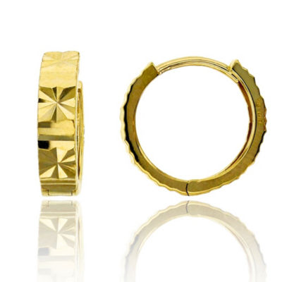 14K Gold 13mm Hoop Earrings