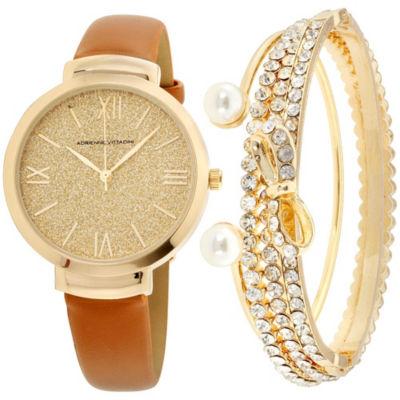 Adrienne Vittadini Womens Brown Bracelet Watch-Adst2630g679-Cgn