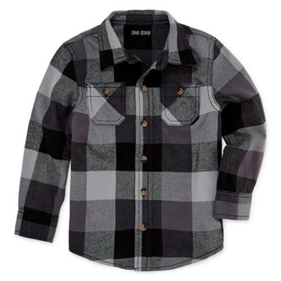 Okie Dokie Flannel Shirt-Toddler Boys