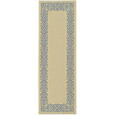 Safavieh Courtyard Collection Dara Oriental Indoor/Outdoor Runner Rug