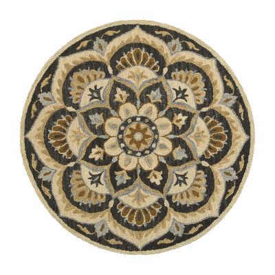 Dazzle Blooming Medallion Round Rug