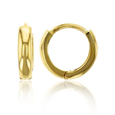 14K Gold 9mm Hoop Earrings