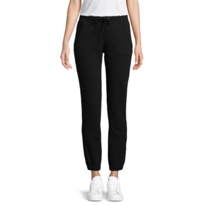 St. John's Bay Active Fleece Jogger Pants-Petite