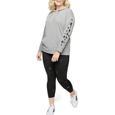 Xersion Long Sleeve Burnout Wash Hoodie - Plus