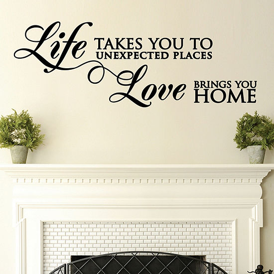 New View New View Life Wall Letters Wall Decal