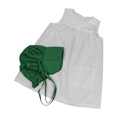The Queen's Treasures Little House Child Size Apron & Bonnet