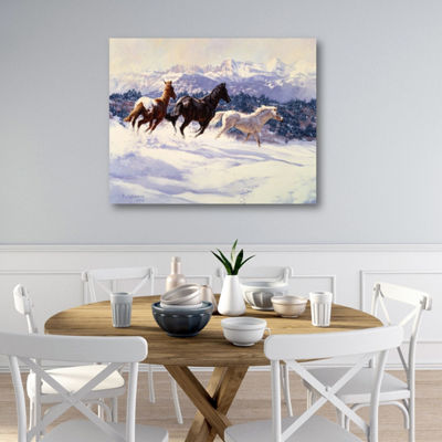 White Snow Canvas Art