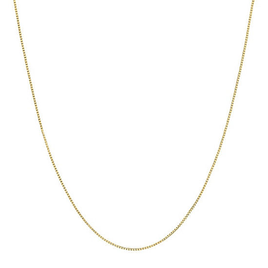 "Made in Italy 14K Gold 16-18"" .5mm Venetian Box Chain"