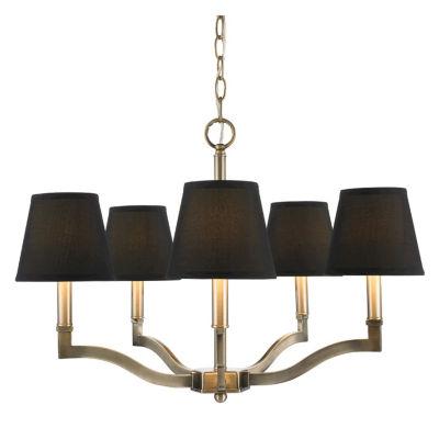 Waverly 5-Light Chandelier in Aged Brass