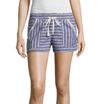 Rewind Woven Pull-On Shorts-Juniors