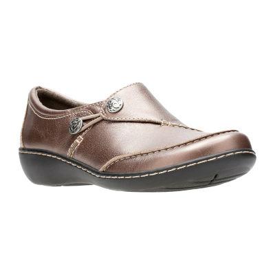 Clarks Ashland Lane Q Womens Slip-On Shoes Slip-on Closed Toe