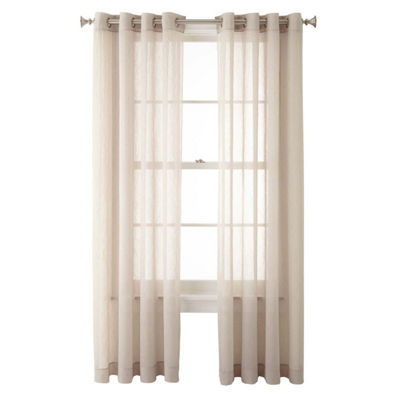 Home Expressions Grommet-Top Sheer Curtain Panel