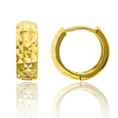 14K Gold 10mm Hoop Earrings