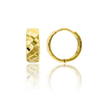 14K Gold 12mm Hoop Earrings