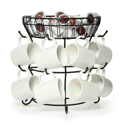 Gourmet Basics by Mikasa Mksa Gb Frnch Cntrysd Mug Tree W Bskt Os Mug Tree