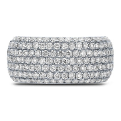 Womens 1 1/2 CT. T.W. Genuine White Diamond 14K White Gold Cocktail Ring