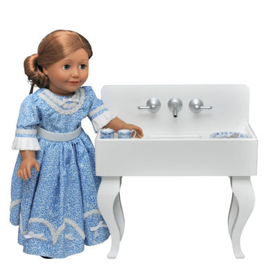 The Queen's Treasures Antique Kitchen Sink 18 Inch Doll Furniture