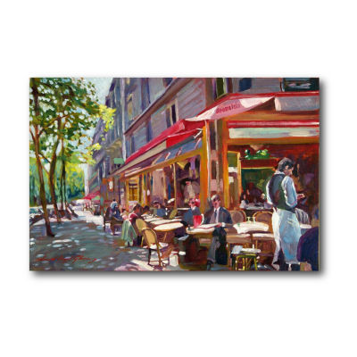 Paris Cafe Society Canvas Art