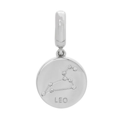 Personal Style White Cubic Zirconia Sterling Silver Charm