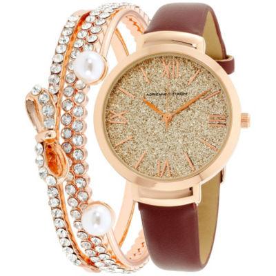 Adrienne Vittadini   Womens Rose Goldtone Bracelet Watch-Adst2630r679-031