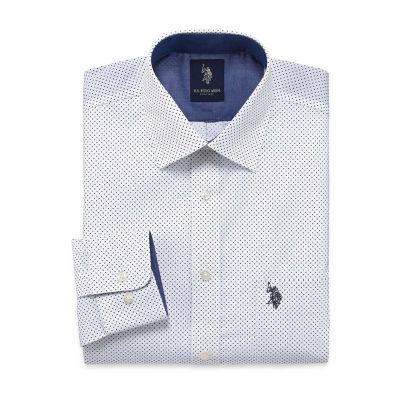 U.S. Polo Assn.Long Sleeve Dots Dress Shirt