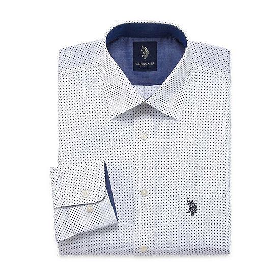 U.S. Polo Assn. Uspa Dress Shirt Mens Spread Collar Long Sleeve Dress Shirt
