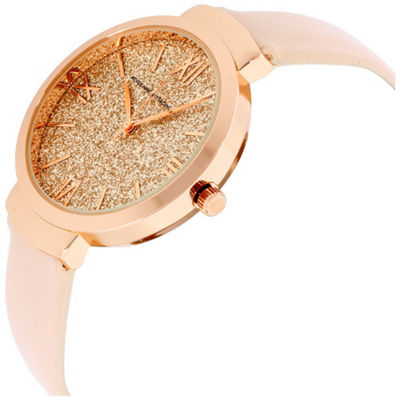 Adrienne Vittadini Womens Rose Goldtone Bracelet Watch-Adst2630r679-0aa
