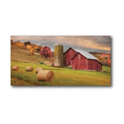 Redline Hay Harvest Canvas Wall Art Canvas Art
