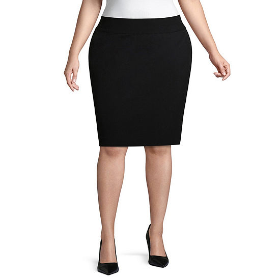 Liz Claiborne Womens Pencil Skirt - Plus