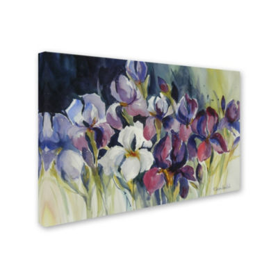 Trademark Fine Art Rita Auerbach White Iris Giclee Canvas Art